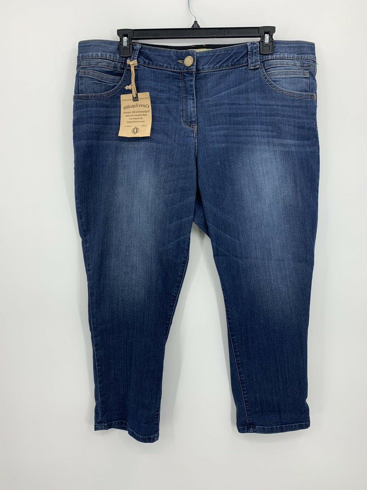 ab technology freedom ankle skimmer jeans womens