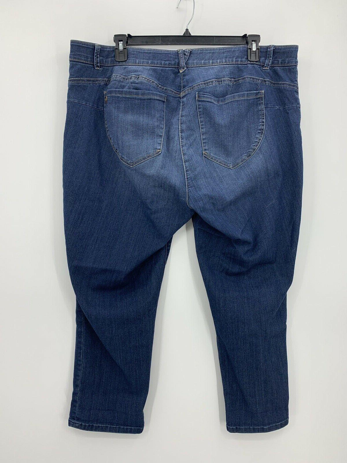 Democracy AB Ankle Skimmer Jeans Womens Plus