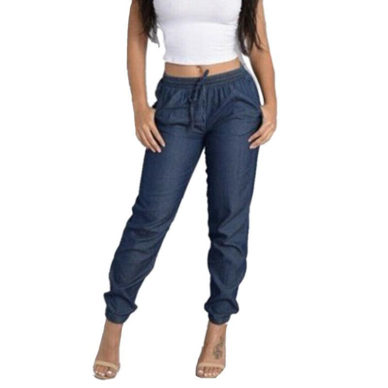 Women Elastic Trousers Loose Pants Size