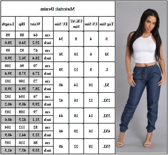 Women Trousers Jeans Denim Loose Long Plus Size