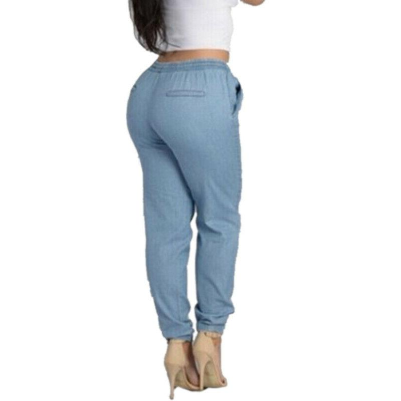 Women High Waist Trousers Loose Pants Size