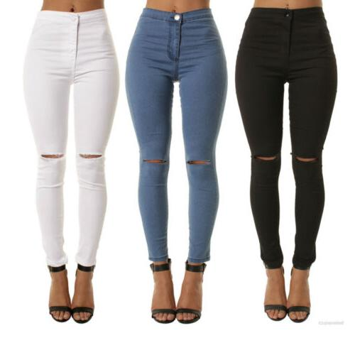 Womens Jeans Jeggings High Waist Pencil Pants