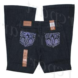 New with tag women plus woven denim jeans dark blue size 18