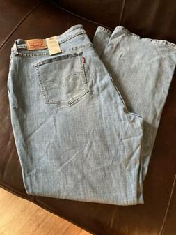 NEW NWT Size 24W M Levi's Womens 415 Jeans Relaxed Bootcut M