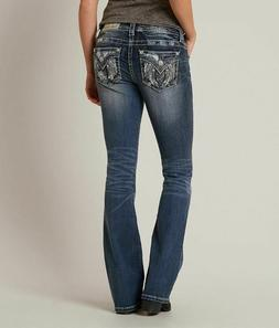 NWT New Womens Miss Me Mid Rise Bootcut Wing Jeans Size 26 2
