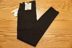 """NWT WOMEN'S DEMOCRACY JEANS High Rise Ankle Skimmer Black """"A"""