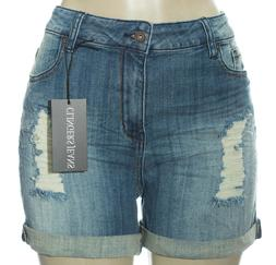 Plus Size Women Shorts Denim Skinny Ripped Hot Pant Beach Tr