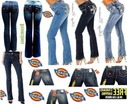 Dickies & Sexy Coutur Womens Blue Bootcut Jeans Denim flap p