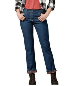 Dickies Women Relaxed fit Straight Leg Flannel Lined Denim J