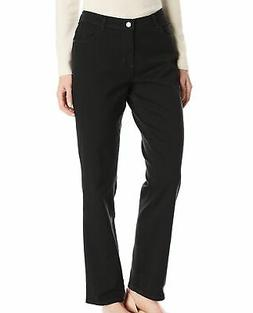 Lee Women's Black Size 8 Long Straight Leg Relaxed Fit Jeans