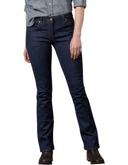 Dickies Women's Perfect Shape Denim Jeans Bootcut Stretch In